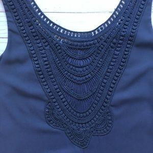 Francesca's Navy Blue Shift Dress